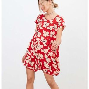 Red floral dress size small